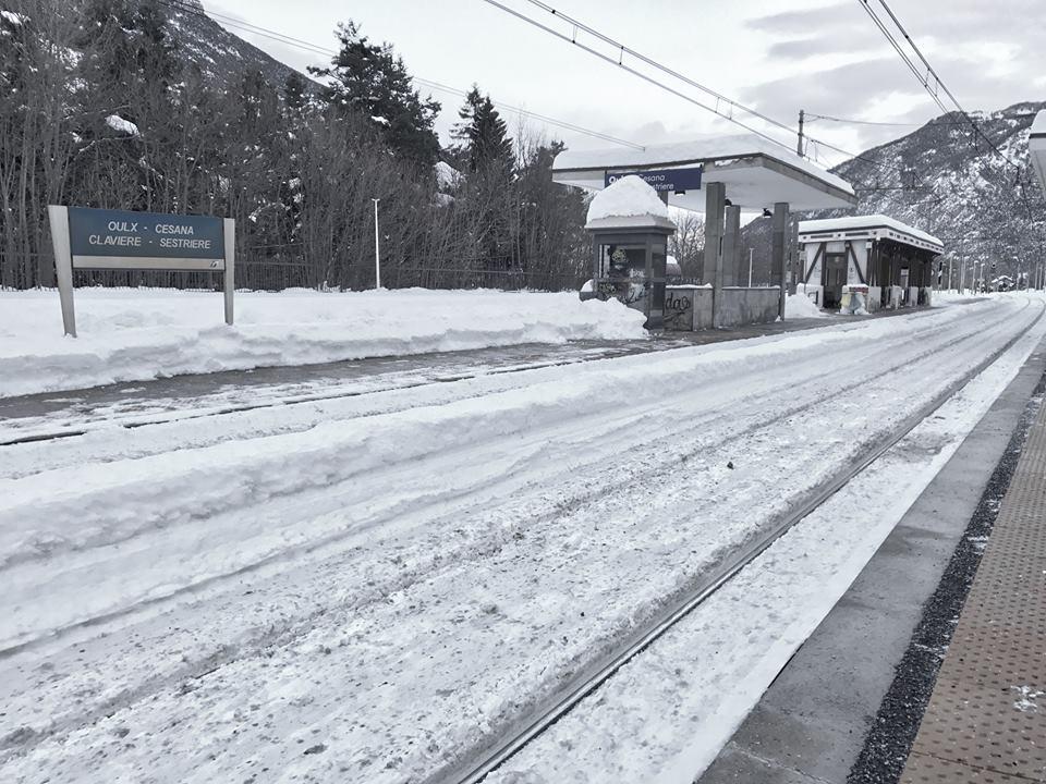 Arrivée à la gare TGV d'Oulx, en Italie